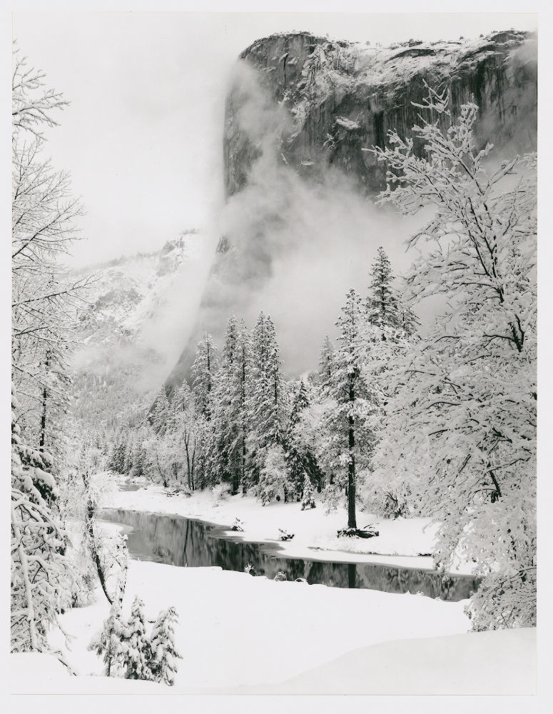 "S-0224, Ansel Adams, ""El Capitan, Winter, Yosemite National Park, California"", 1950"