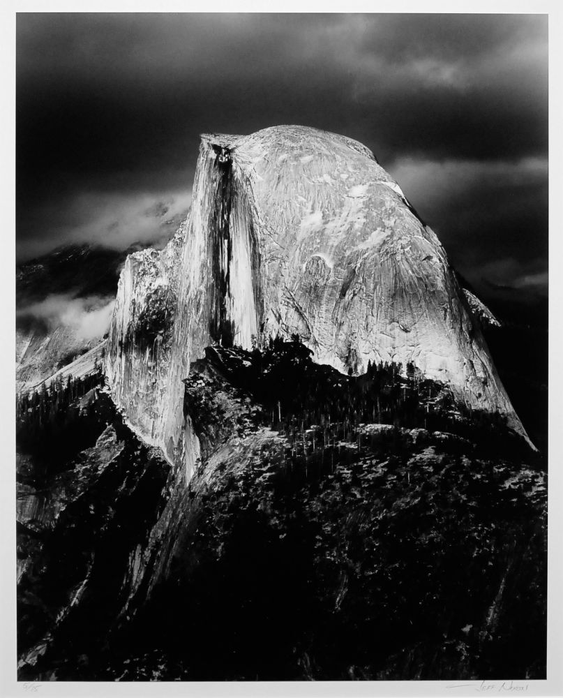"S-0314, ""Half Dome, Evening, Thunderstorm"""