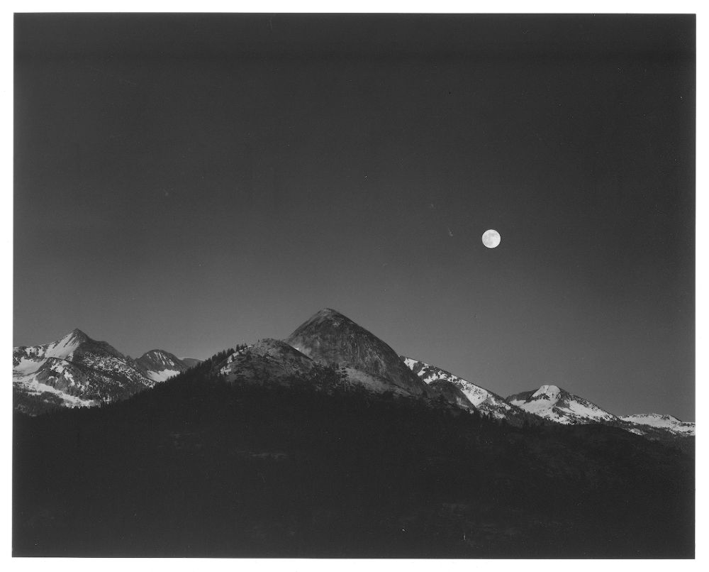 "S-0762, Ansel Adams, ""Moonrise from Glacier Point, Yosemite National Park, California"", 1959"