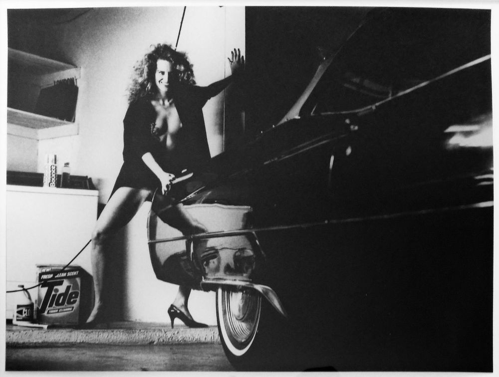 "S-1176, Jonathan Monk, ""Woman and Cadillac, Hollywood 1987"", 1987"