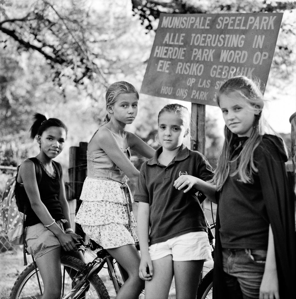 "S-1585, ""Cheryldean, Hestia, Marisa & Clara: Girls in the Park at Prins Albert, South Africa"""