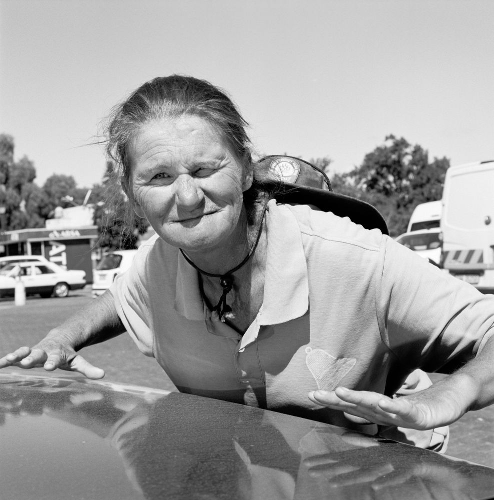 "S-1586, ""Corrie Saayman, Parking Attendant, Oudsthoorn, South Africa"""