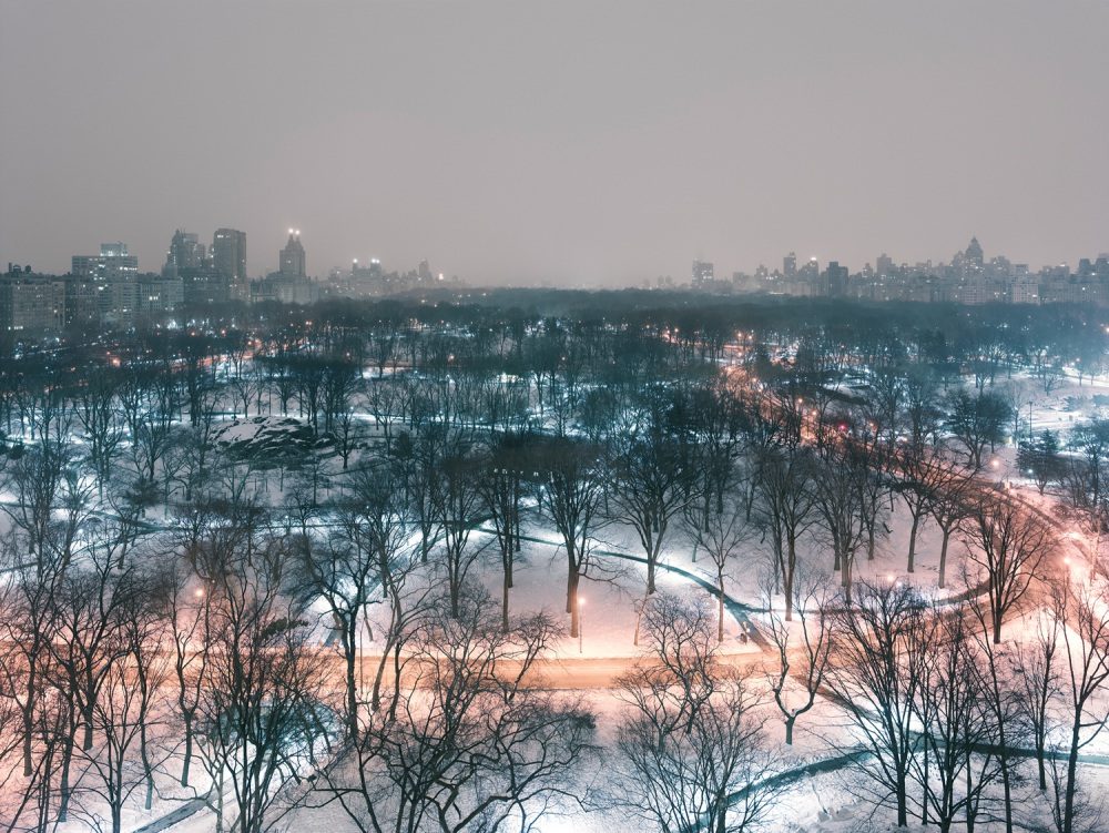 "S-1652, Josef Hoflehner, ""Central Park (Winter Night), Manhattan, New York"", 2014"