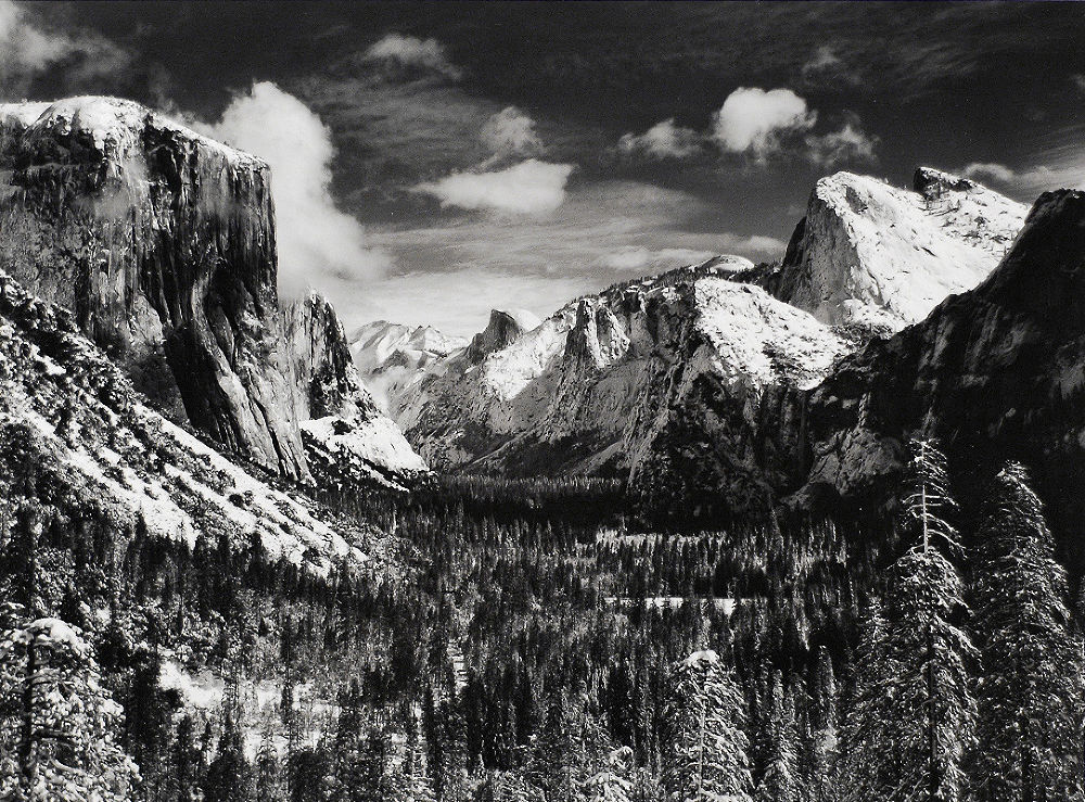 "S-1993, ""Yosemite Valley from Inspiration Point, Winter"""